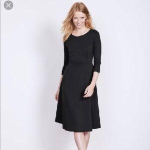 Boden Irene Black Ponte Knit Dress